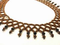 Netted Beadwork Necklace Jewellery Making Kit with SWAROVSKI® ELEMENTS Bronze